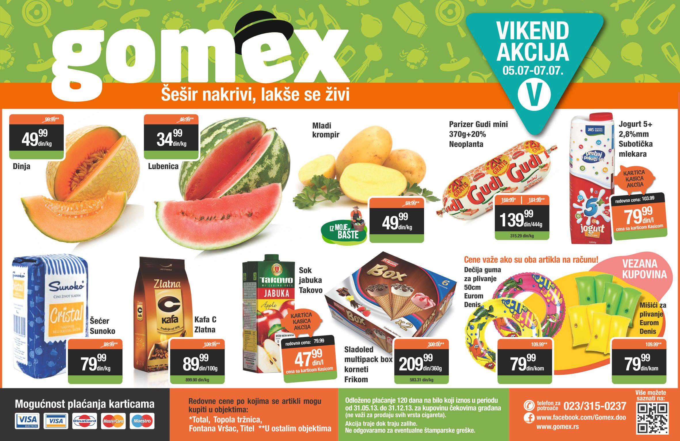 Gomex vikend akcija super kupovine