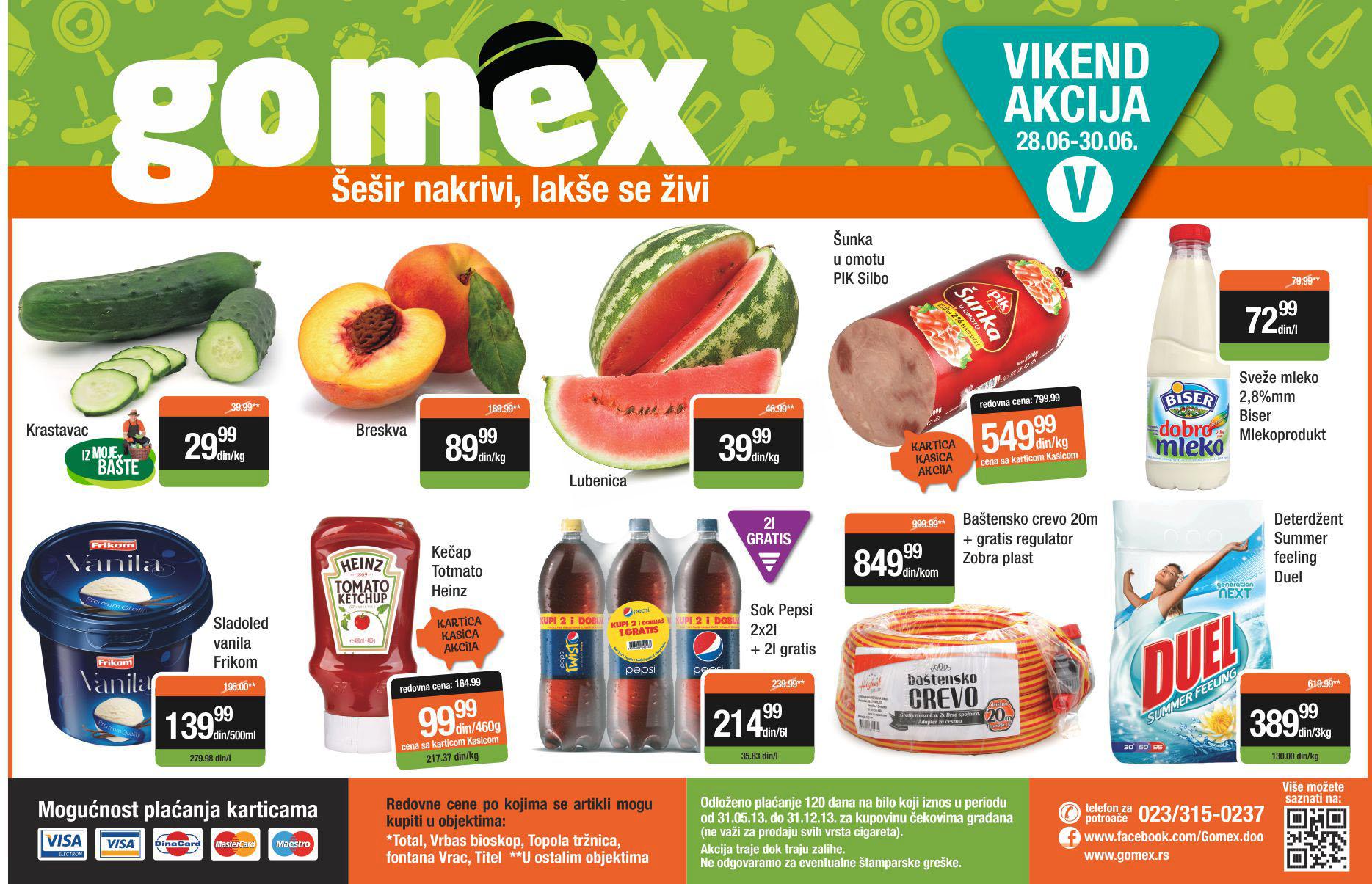 Gomex katalog vikend akcija super ponuda