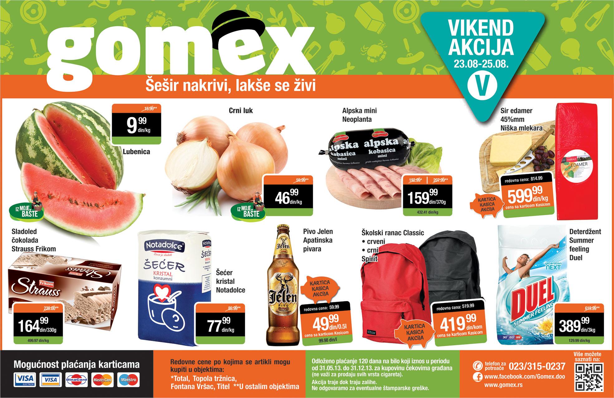 Gomex katalog vikend odličnih cena