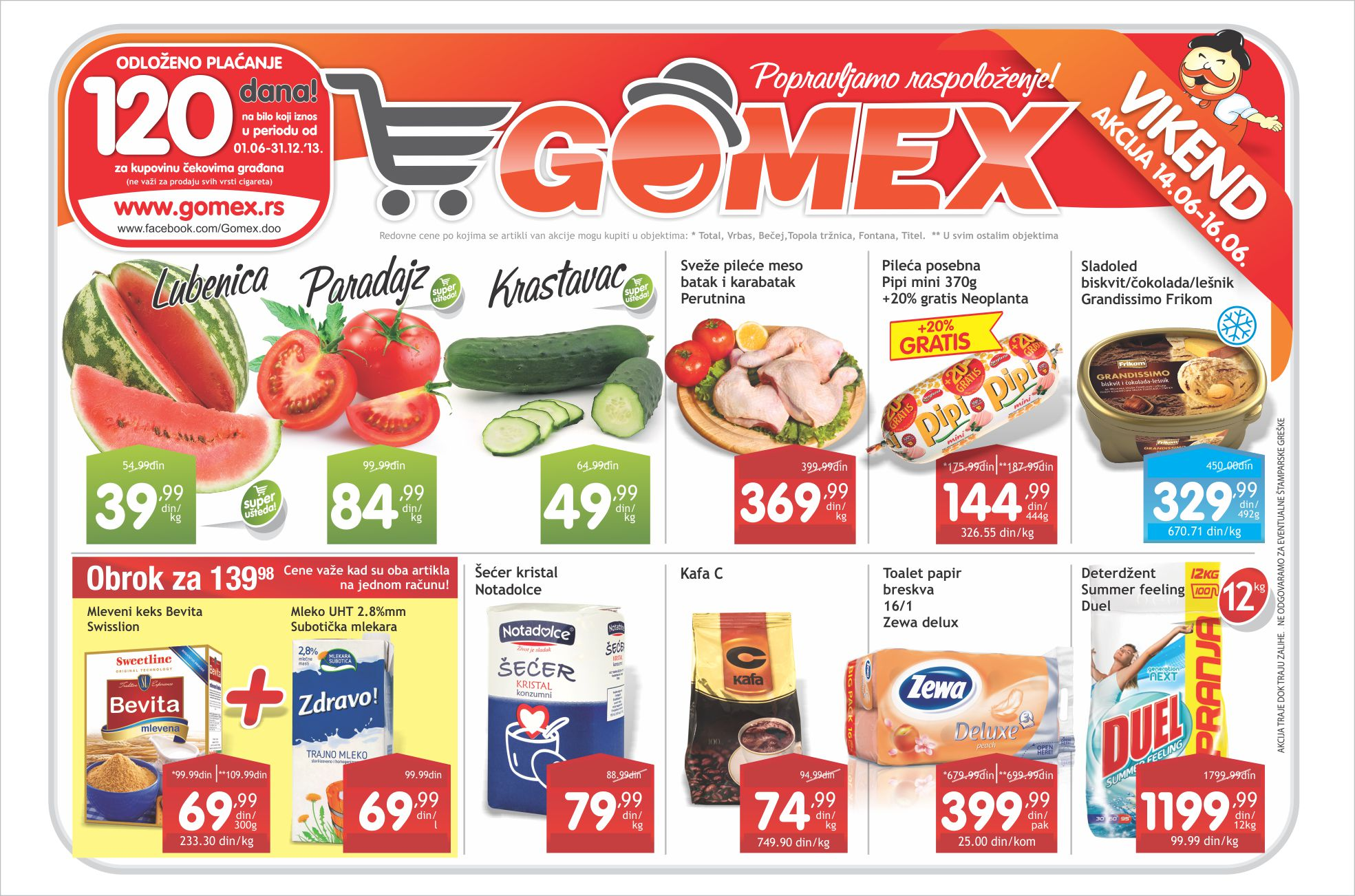 Gomex katalog vikend super cena