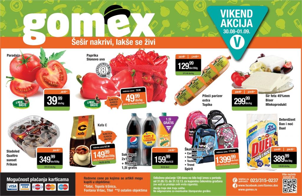 Gomex katalog vikend odlične kupovine