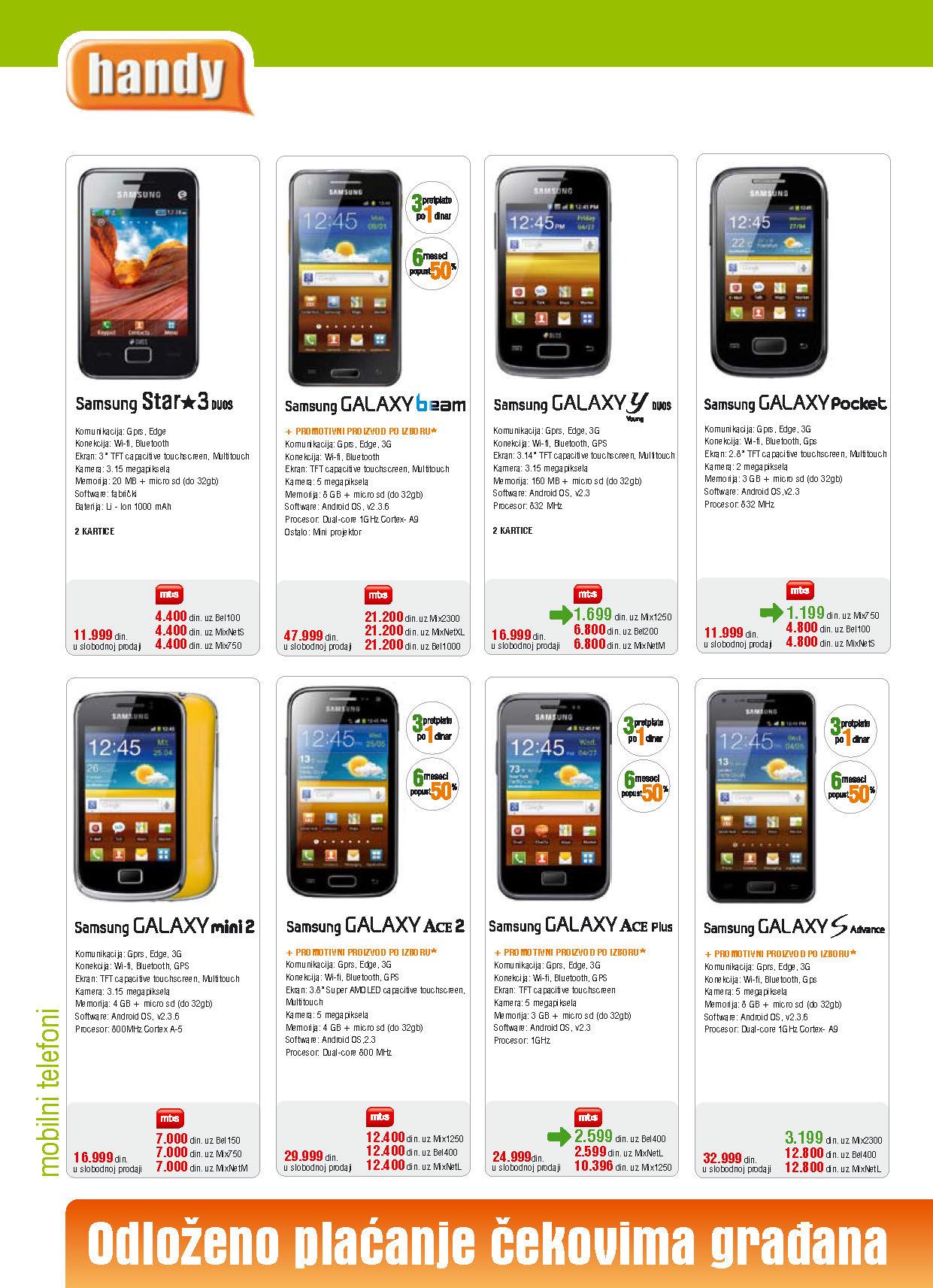 Handy Katalog Mobilni telefoni