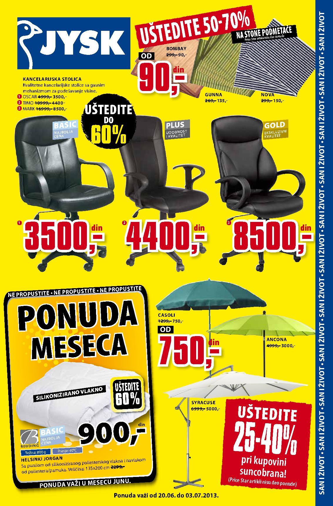 JYSK Katalog nedelja dobre kupovine