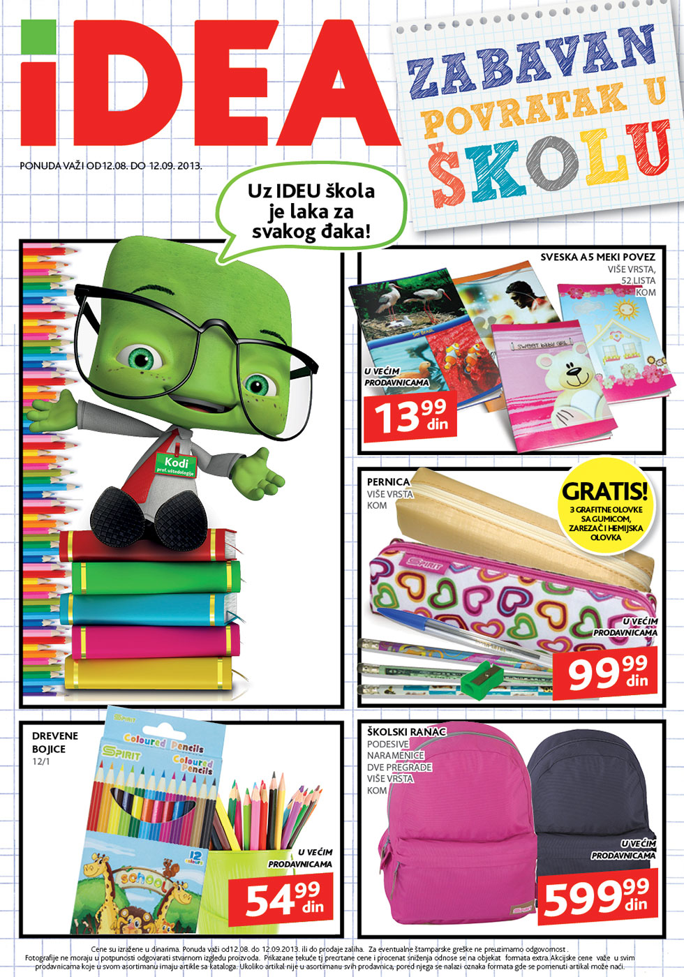 Idea katalog sve za školicu po super ceni