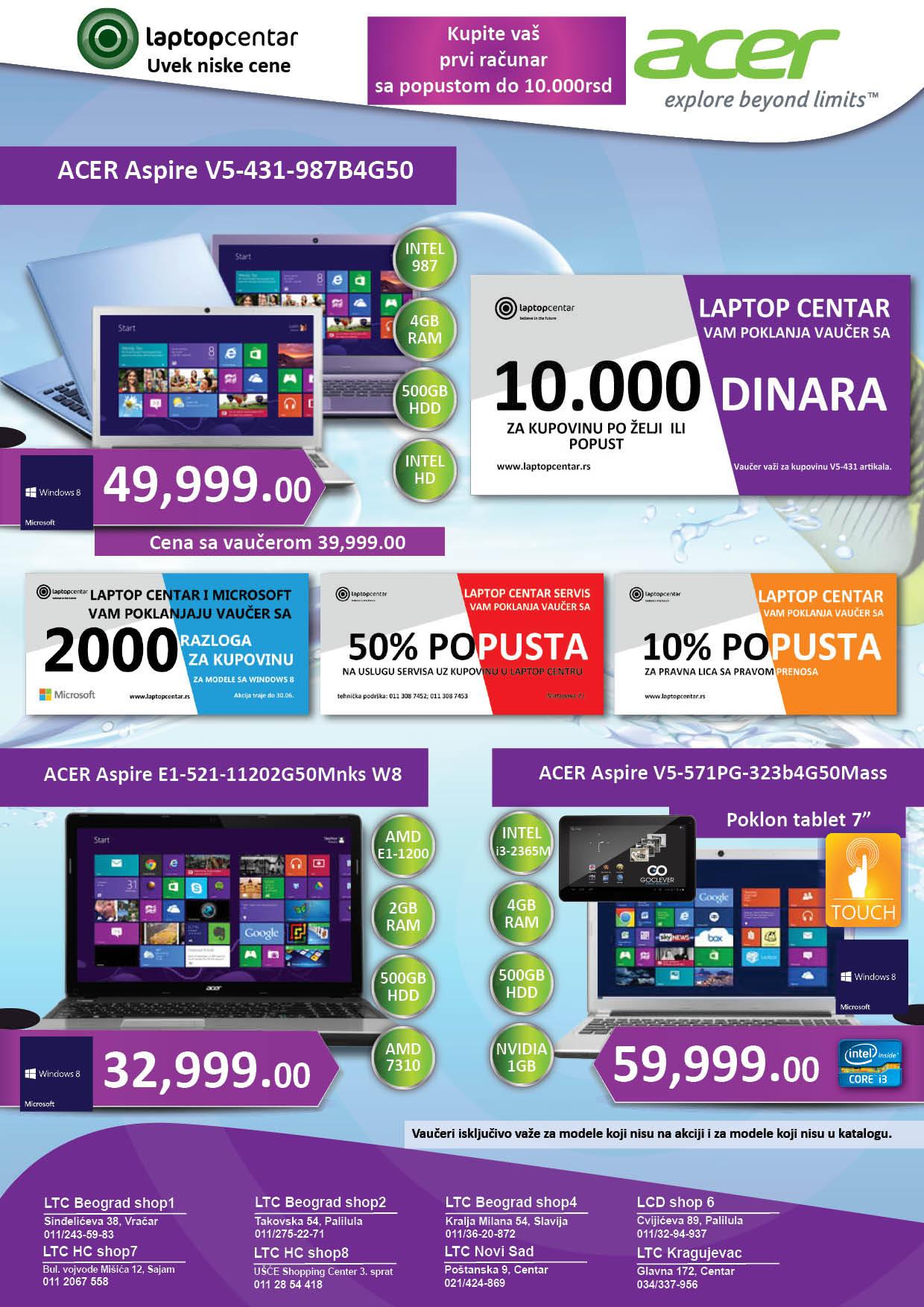 Laptop centra Katalog mesec odlične kupovine