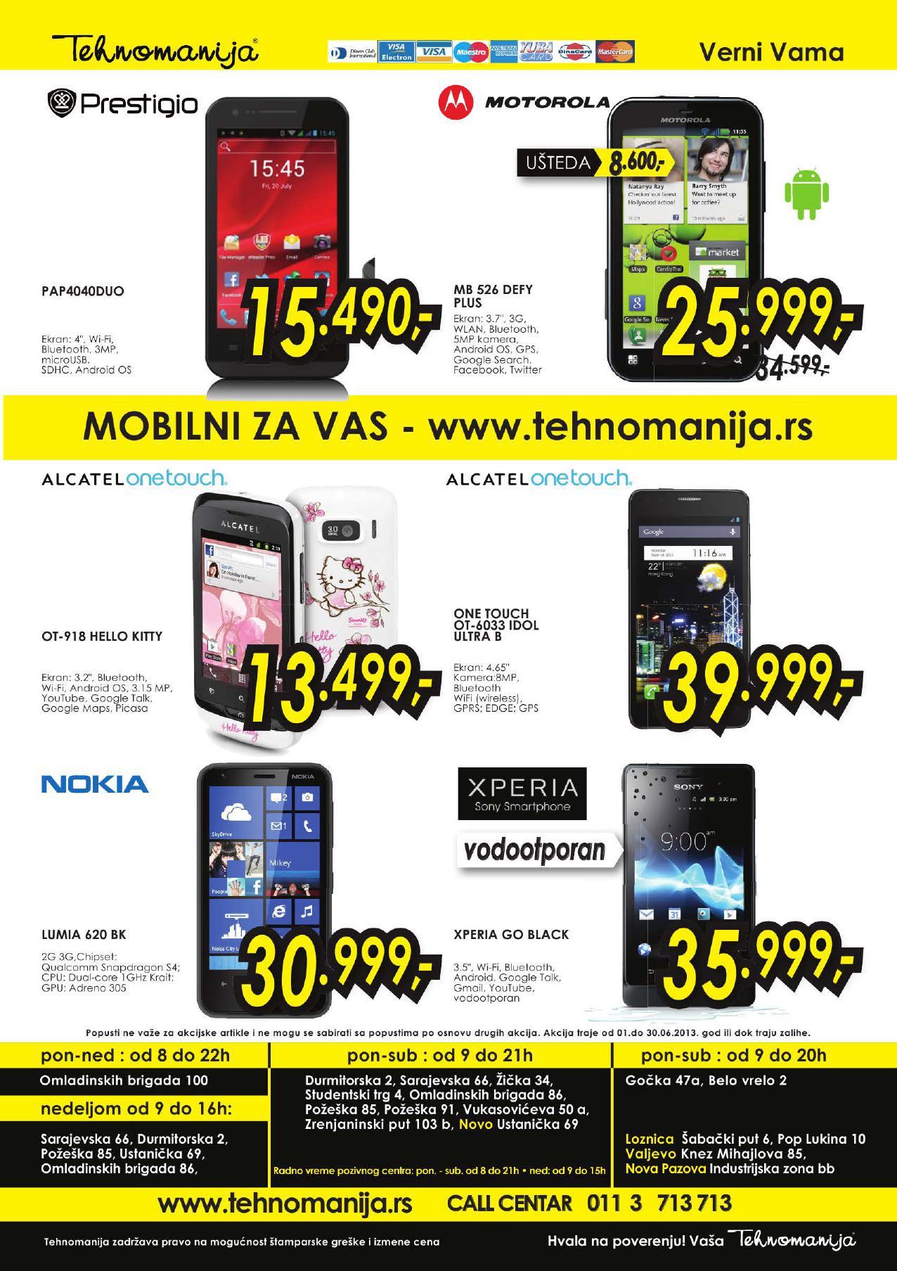Tehnomanija Katalog Tablet i mobilni po super cenama