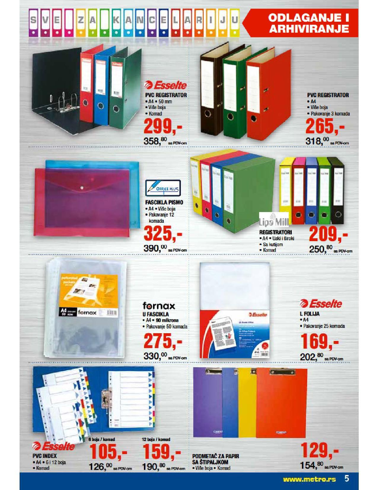 Metro, Katalog kancelarija, super cene