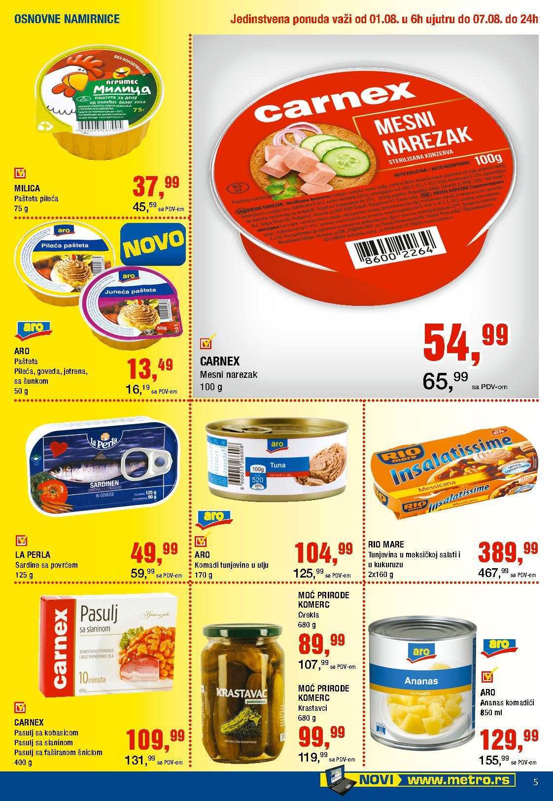 Metro katalog neverovatna nedelja prehrane po super ceni