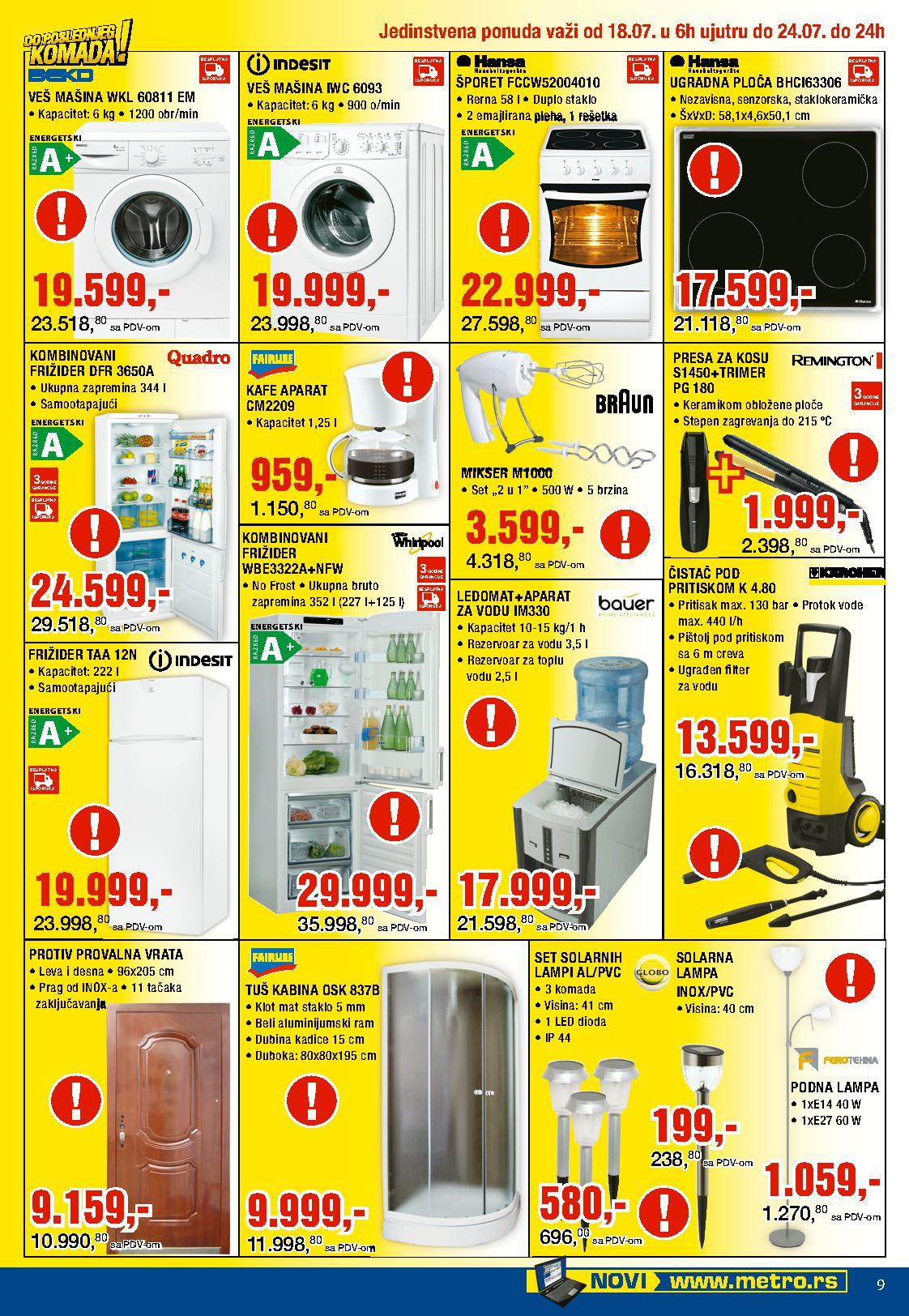 Metro katalog do poslednjeg komada