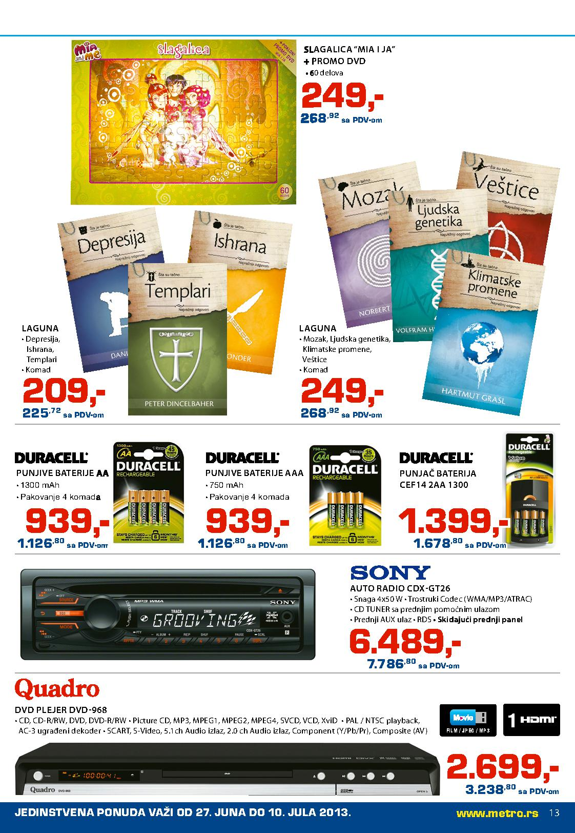 Metro katalog neprehrana po najpovoljnijim cenama
