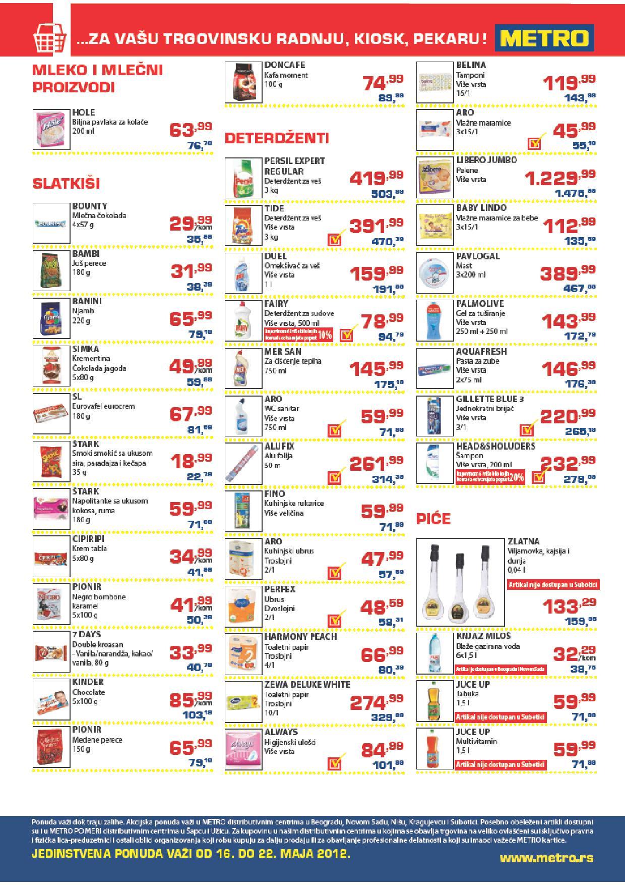 Metro, Katalog trgovci po najpovoljnijim cenama