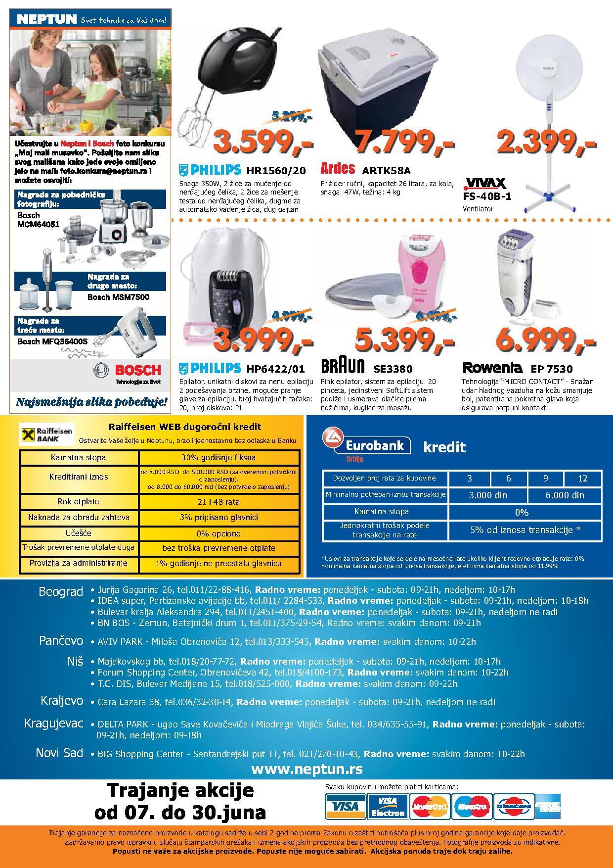 Neptun Katalog letnjih cena