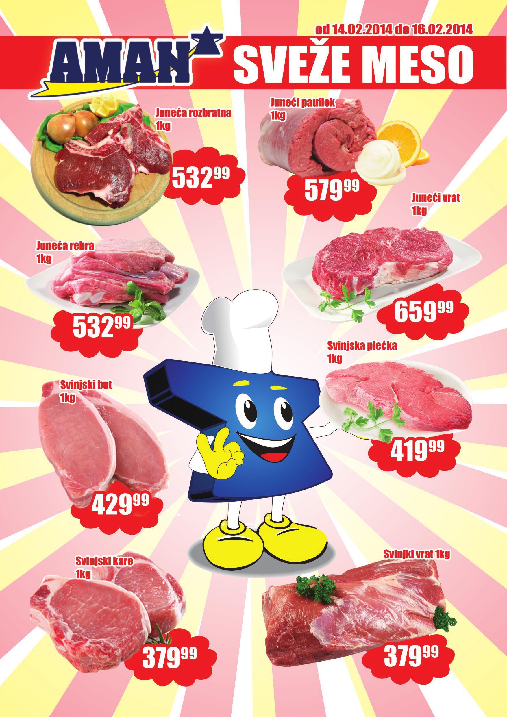 Aman katalog odlična ponuda svežeg mesa