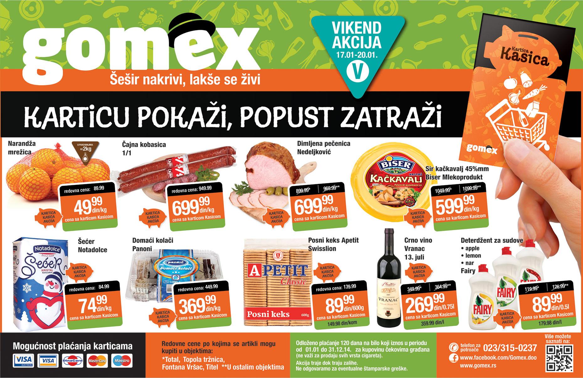 Gomex katalog vikend super ponude za vas
