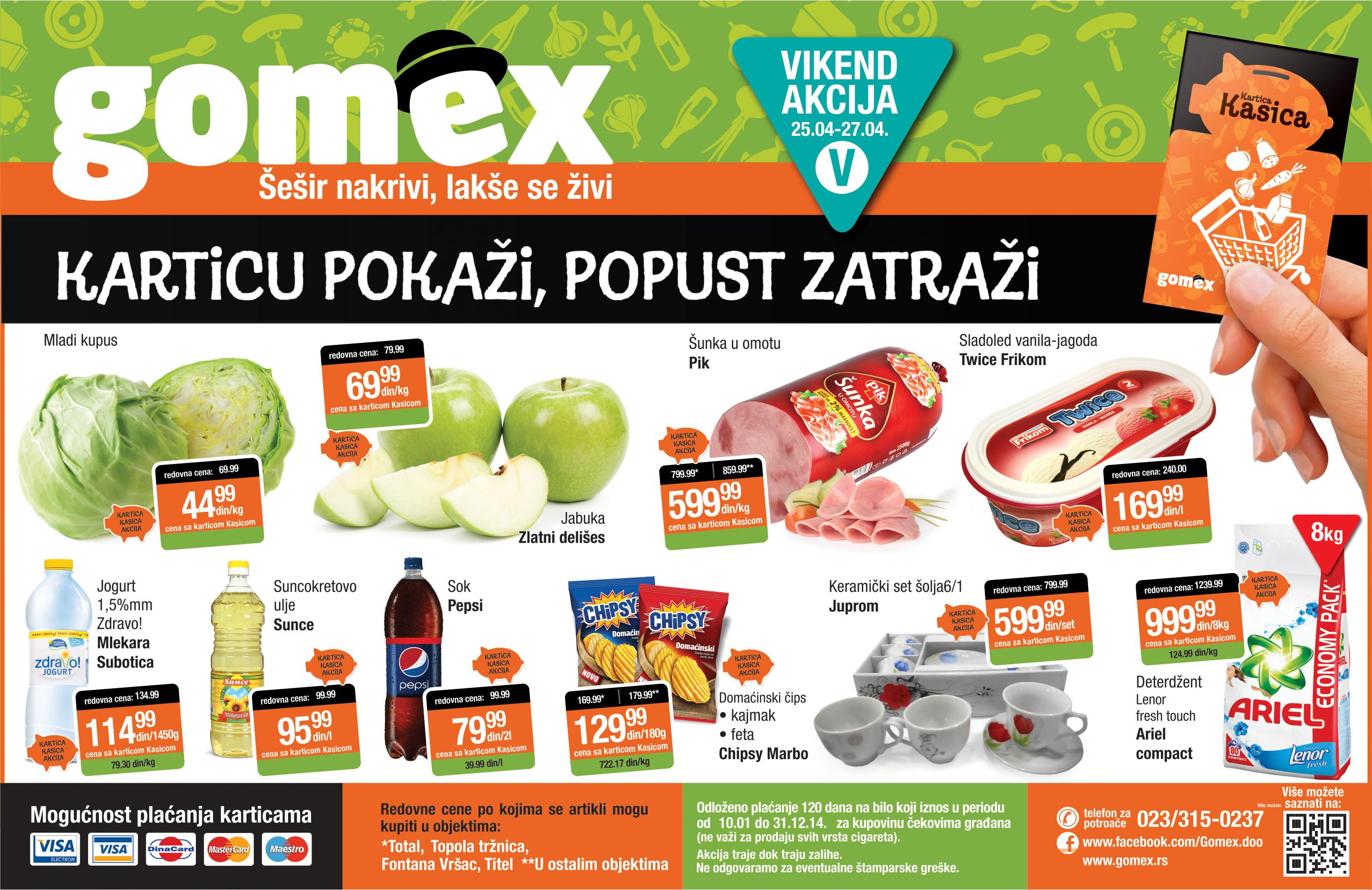 Gomex akcija vikend super ponude je spreman