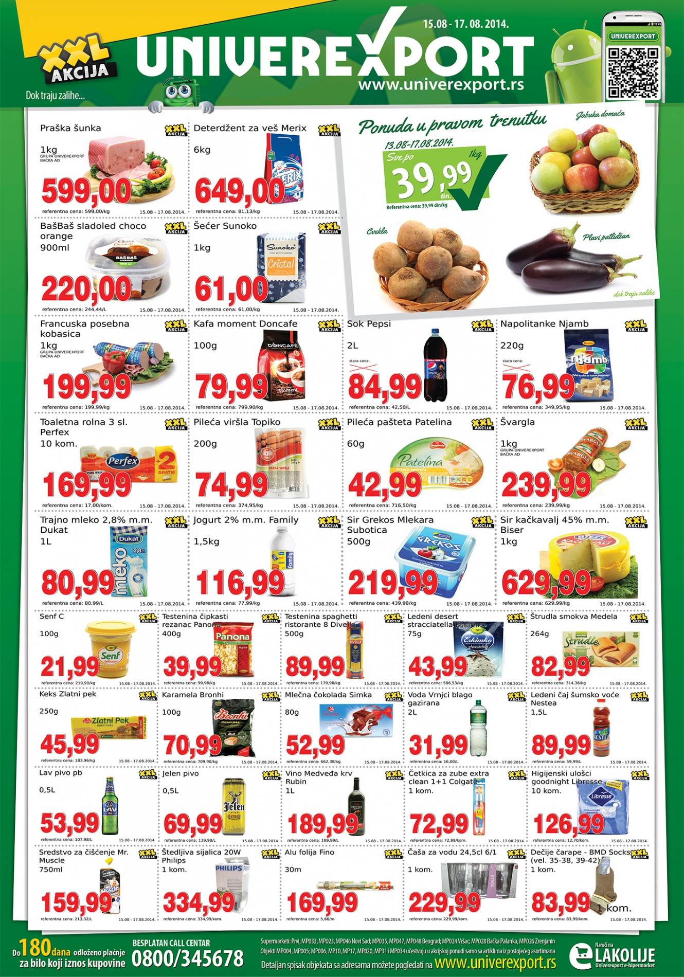 Univerexport akcija vikend odličnih cena