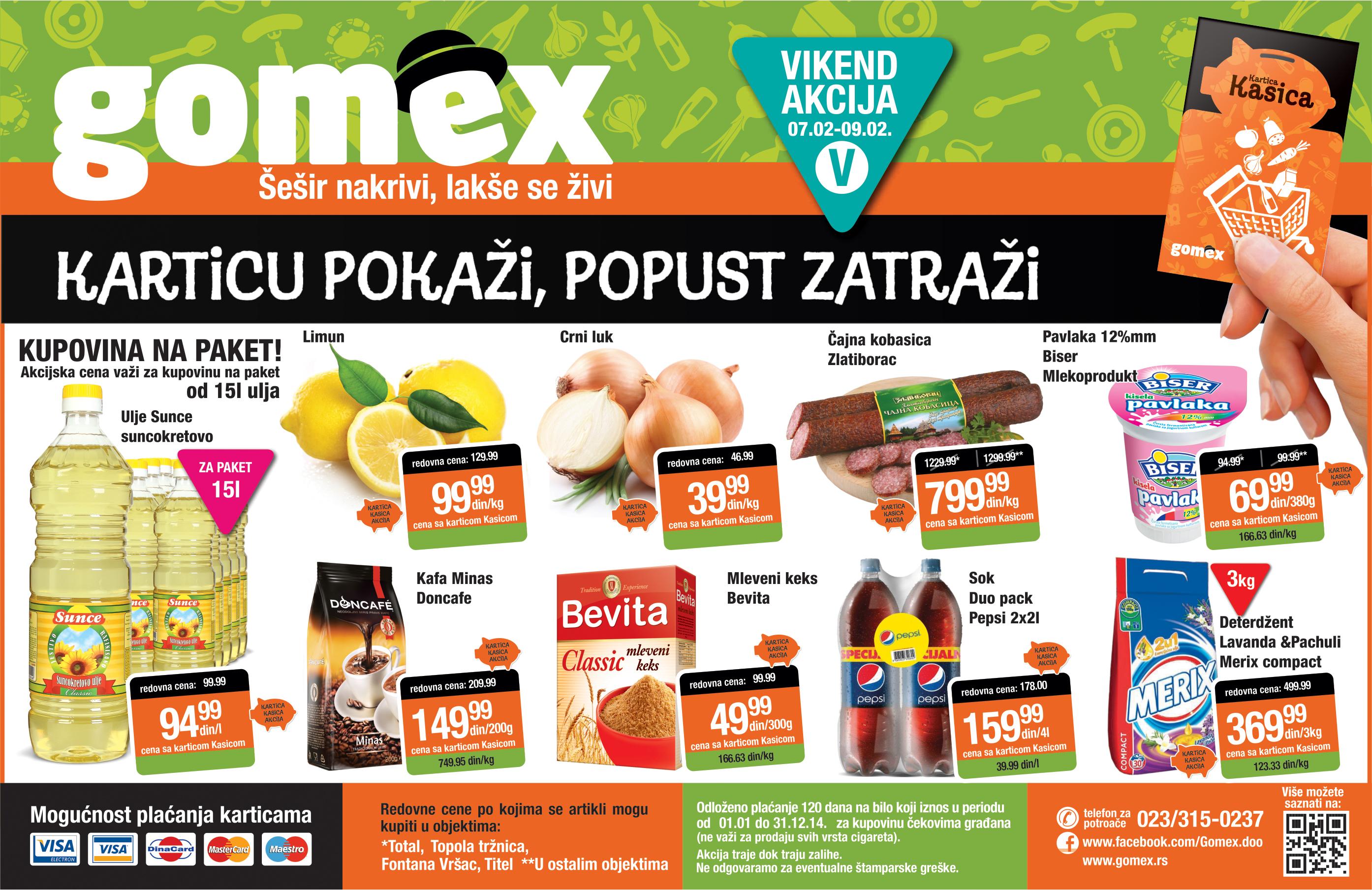 Gomex katalog spreman je vikend super cena