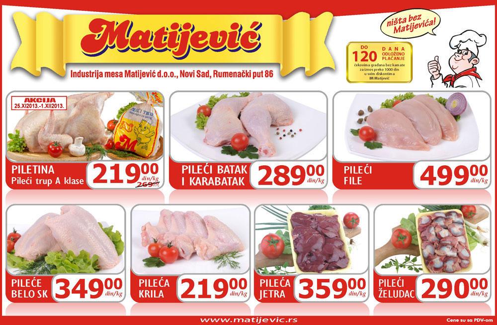 Matijević katalog piletina po super ceni