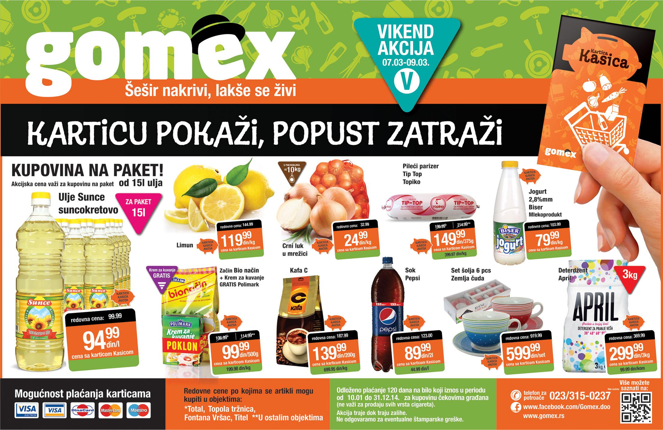 Gomex katalog vikend ponuda za vas
