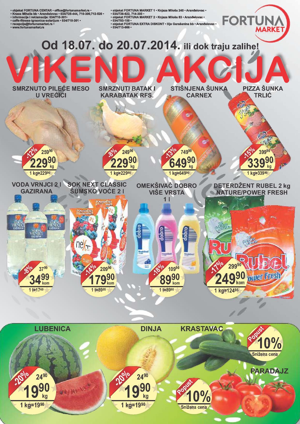 Fortuna market akcija vikend super cena za vas
