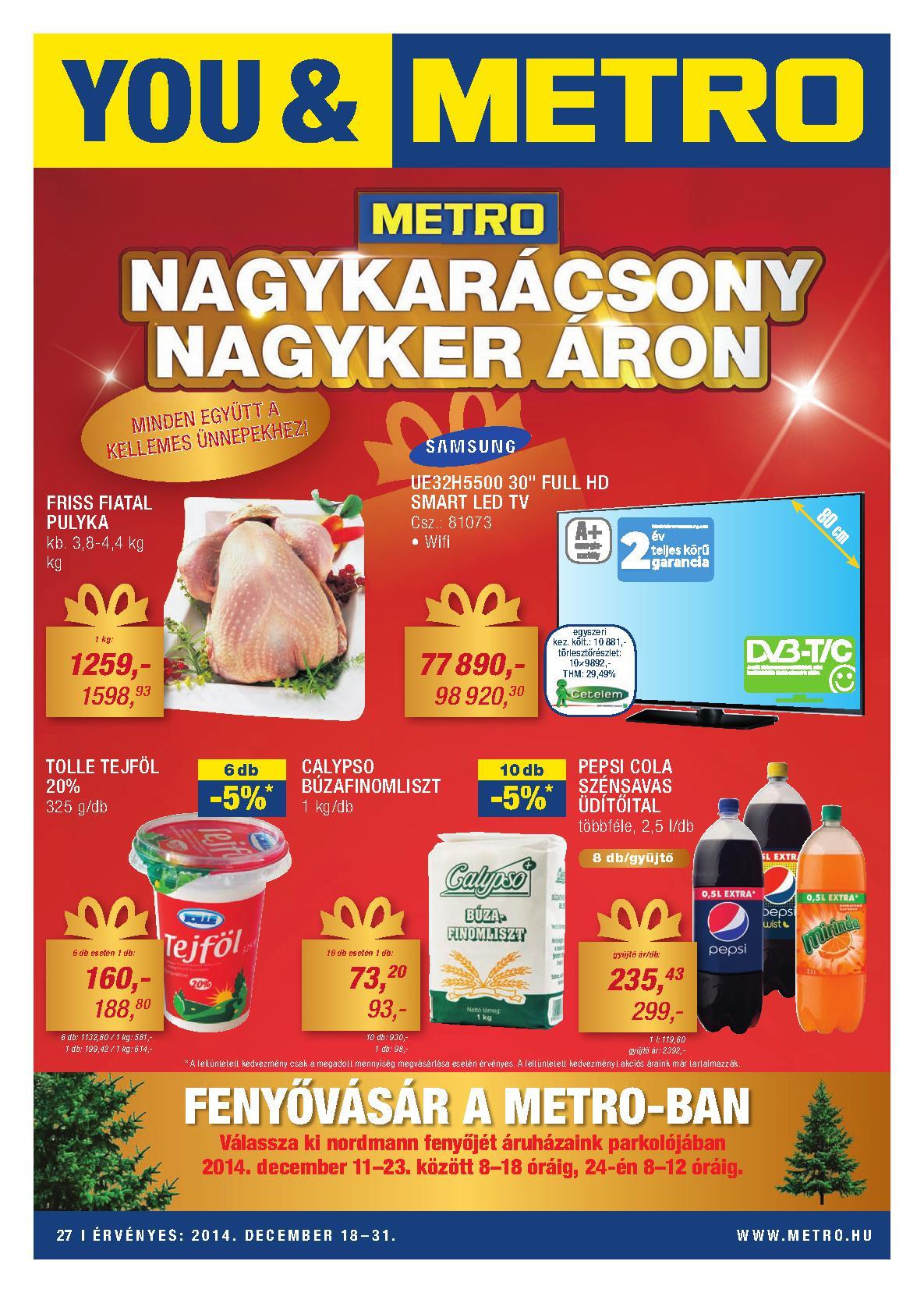 Metro Mađarska akcija novogodišnja ponuda prehrane