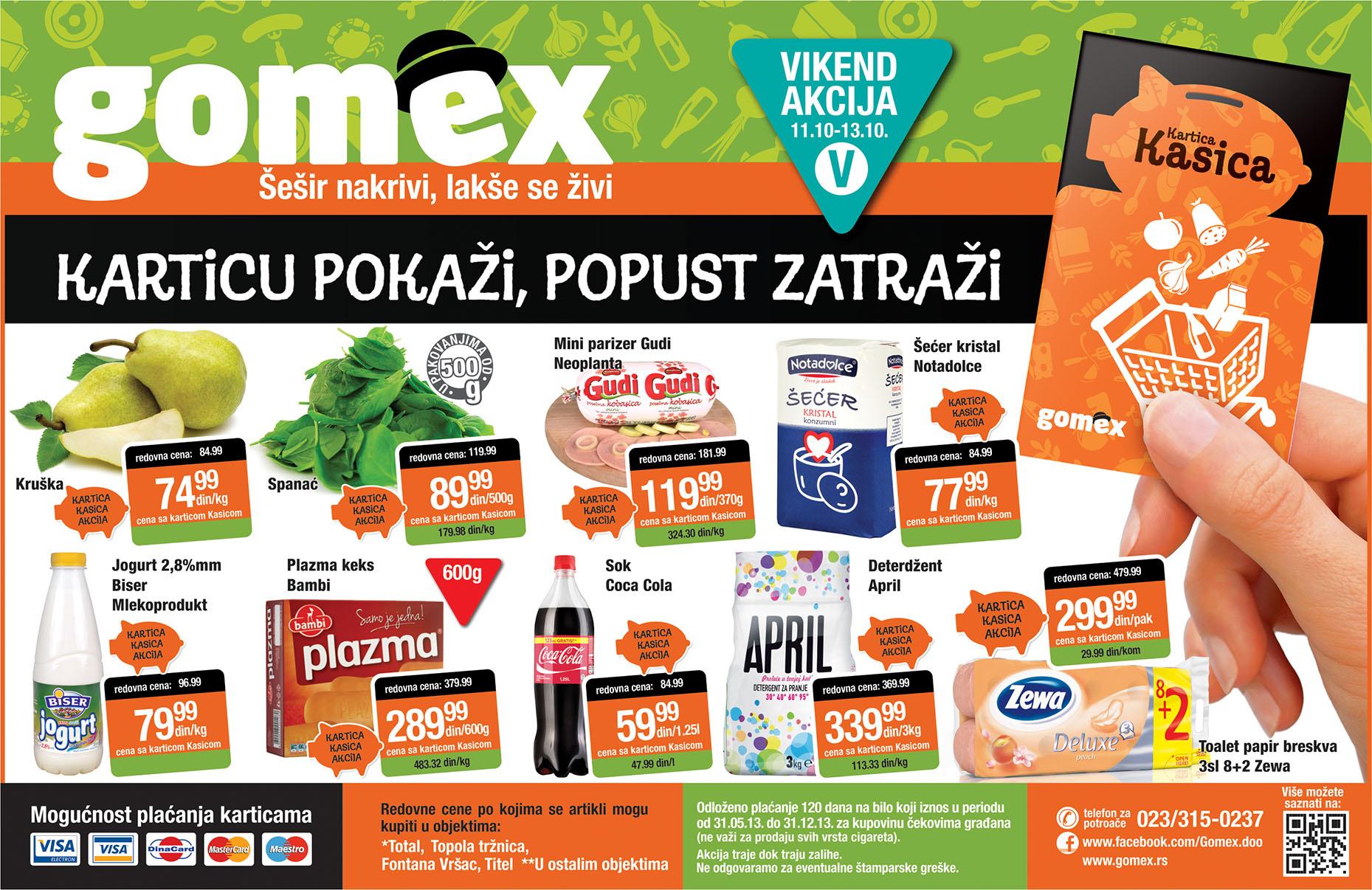 Gomex katalog vikend super kupovine