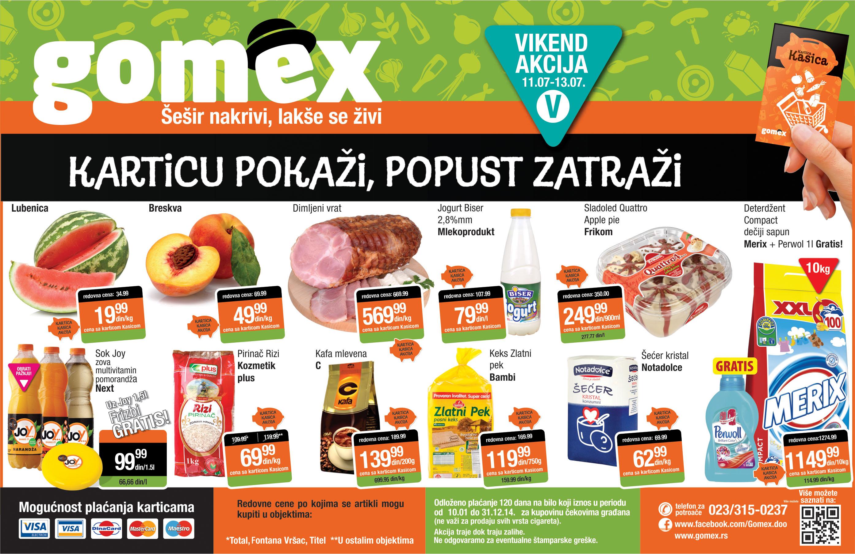 Gomex akcija vikend sjajne ponude počinje