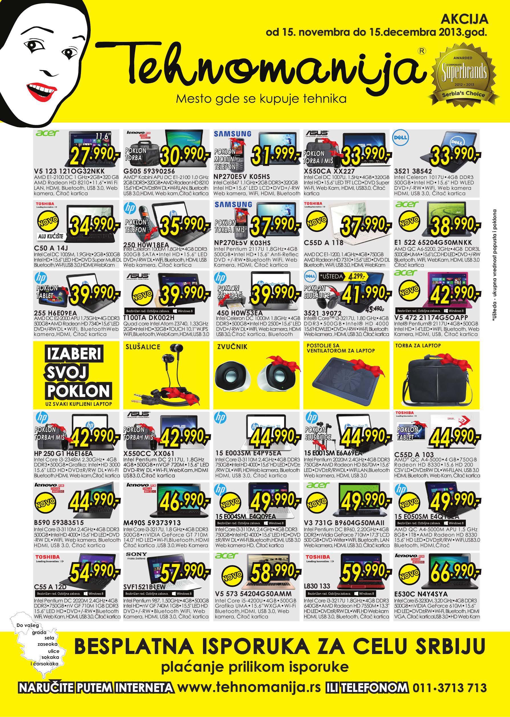 Tehnomanija katalog najbolja ponuda laptopova i tableta