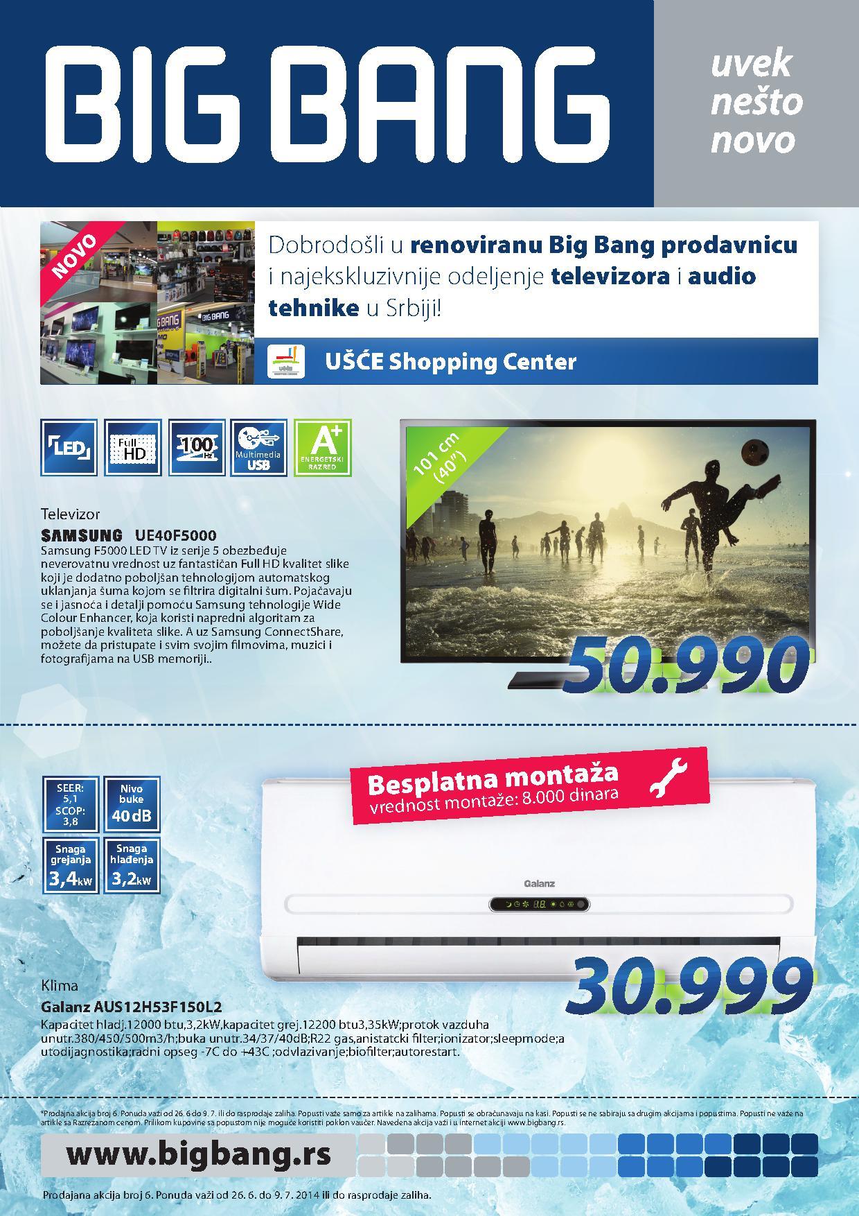 Big Bang akcija dobrih cena