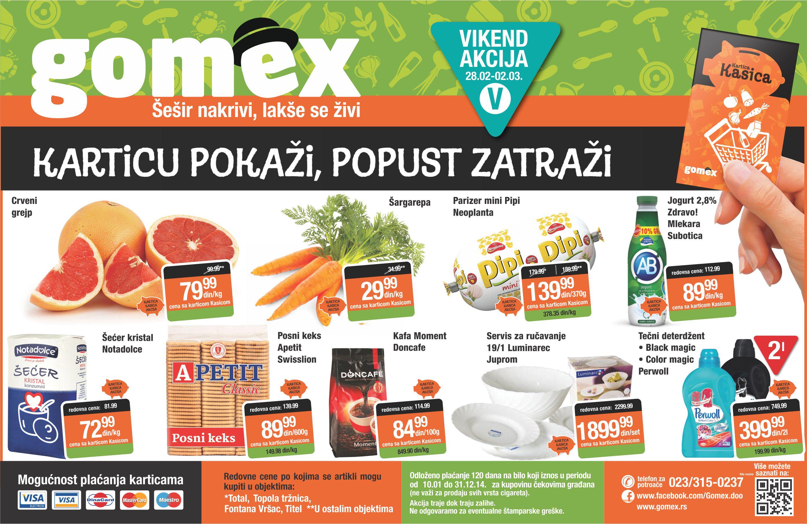 Gomex katalog vikend sjajne ponude