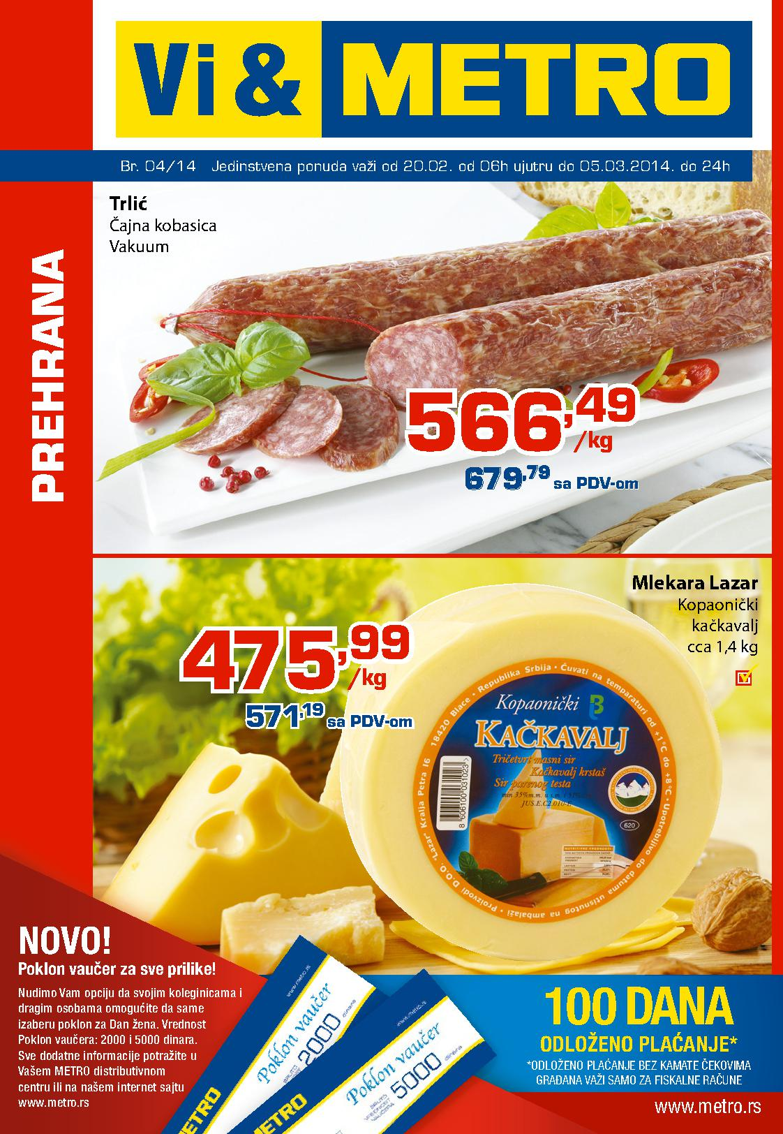 Metro katalog prehraana po odličnoj ceni za vas