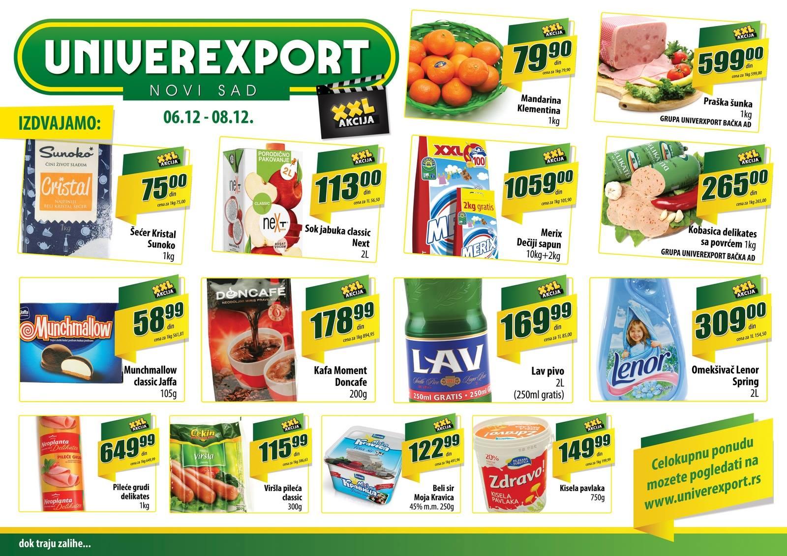 Univerexport katalog vikend odličnih popusta