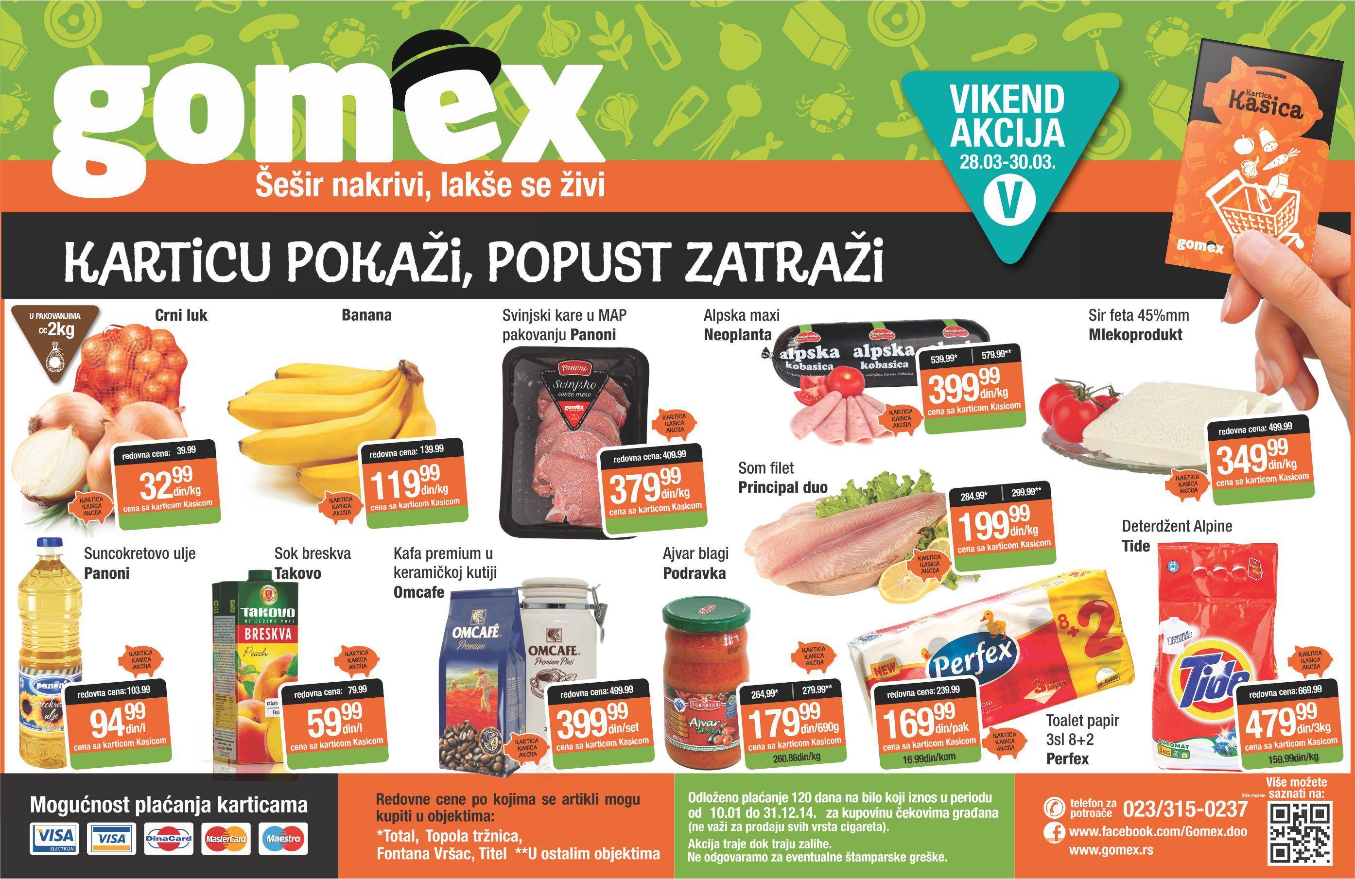Gomex akcija vikend super popusta za vas