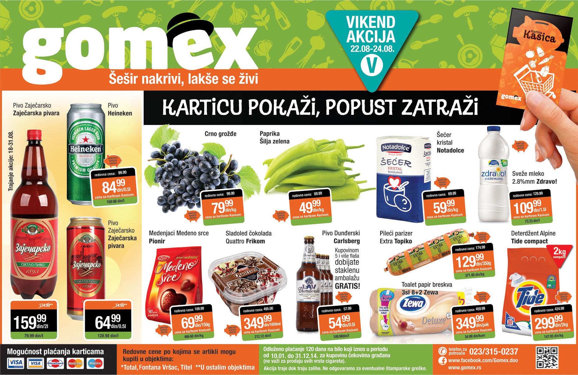 Gomex akcija sjajna vikend ponuda