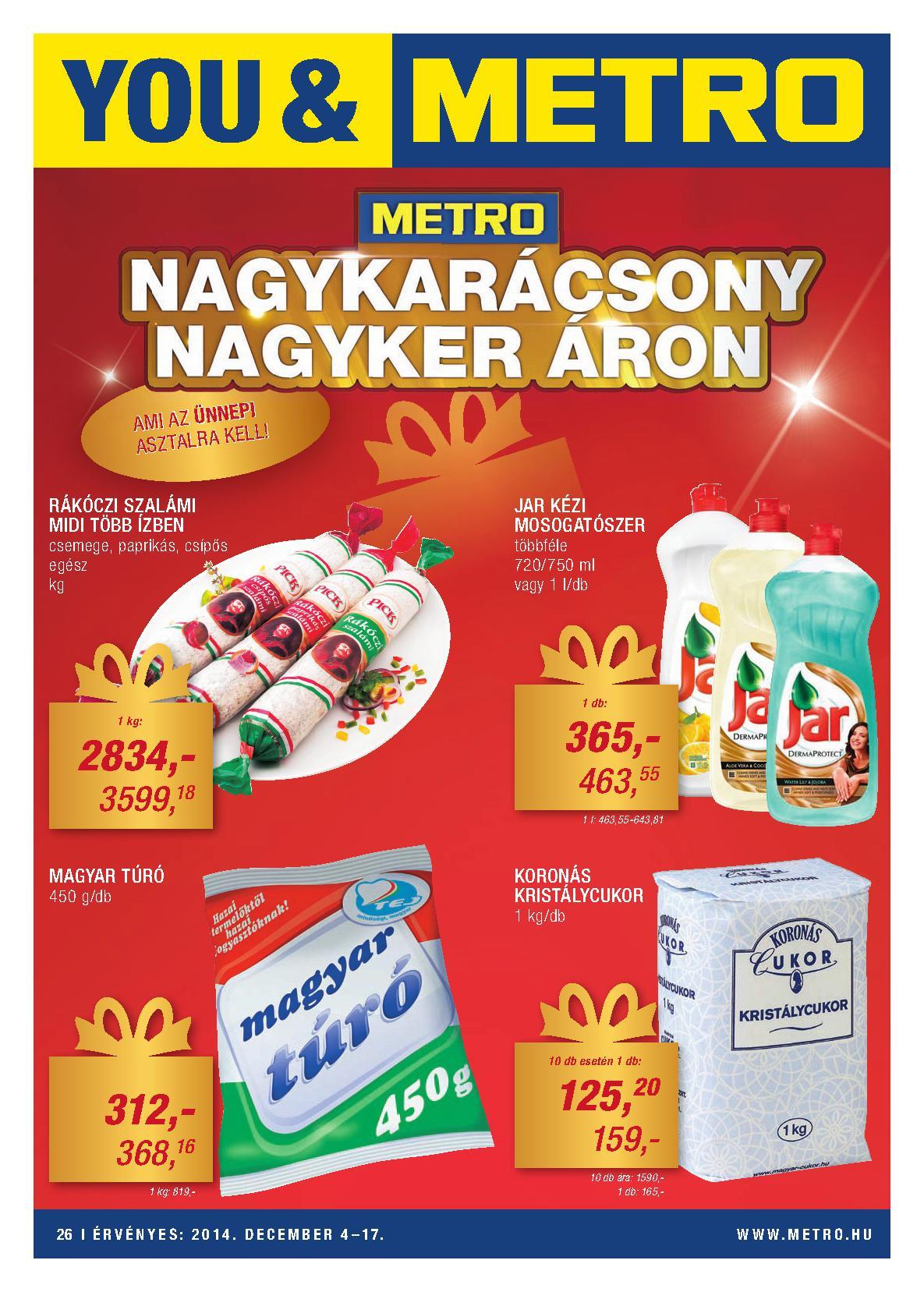 Metro Mađarska akcija prehrana decembarske ponuda