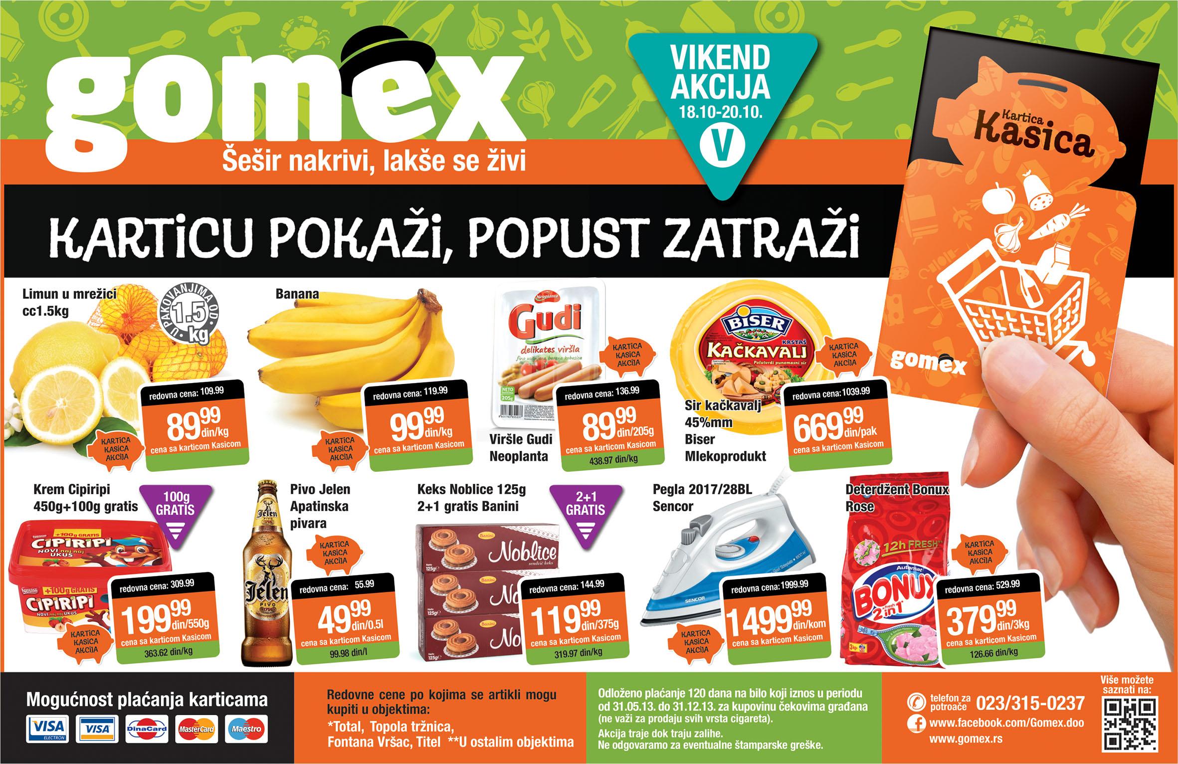 Gomex katalog vikend super ponude