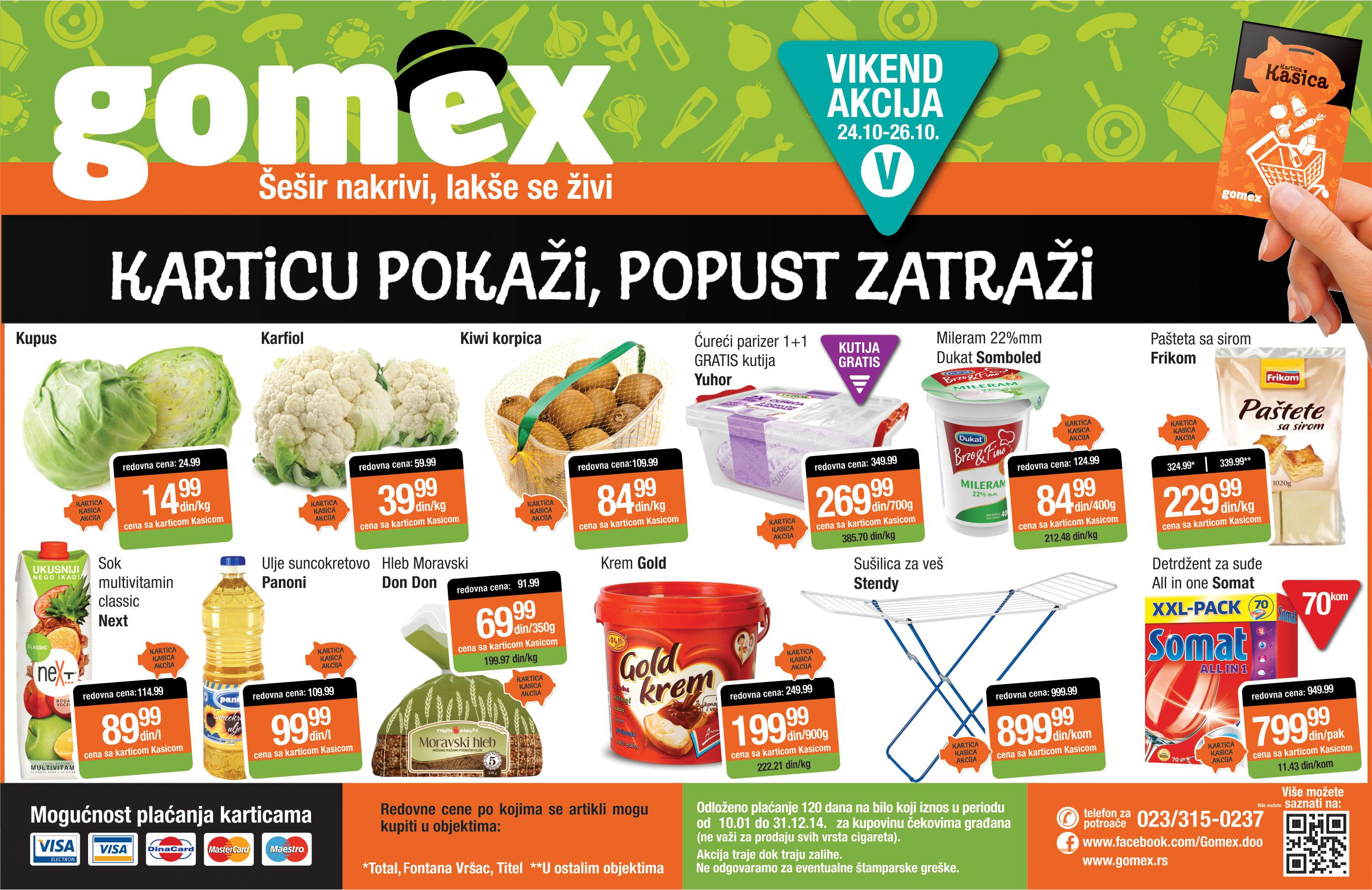 Gomex akcija vikend odlične ponude