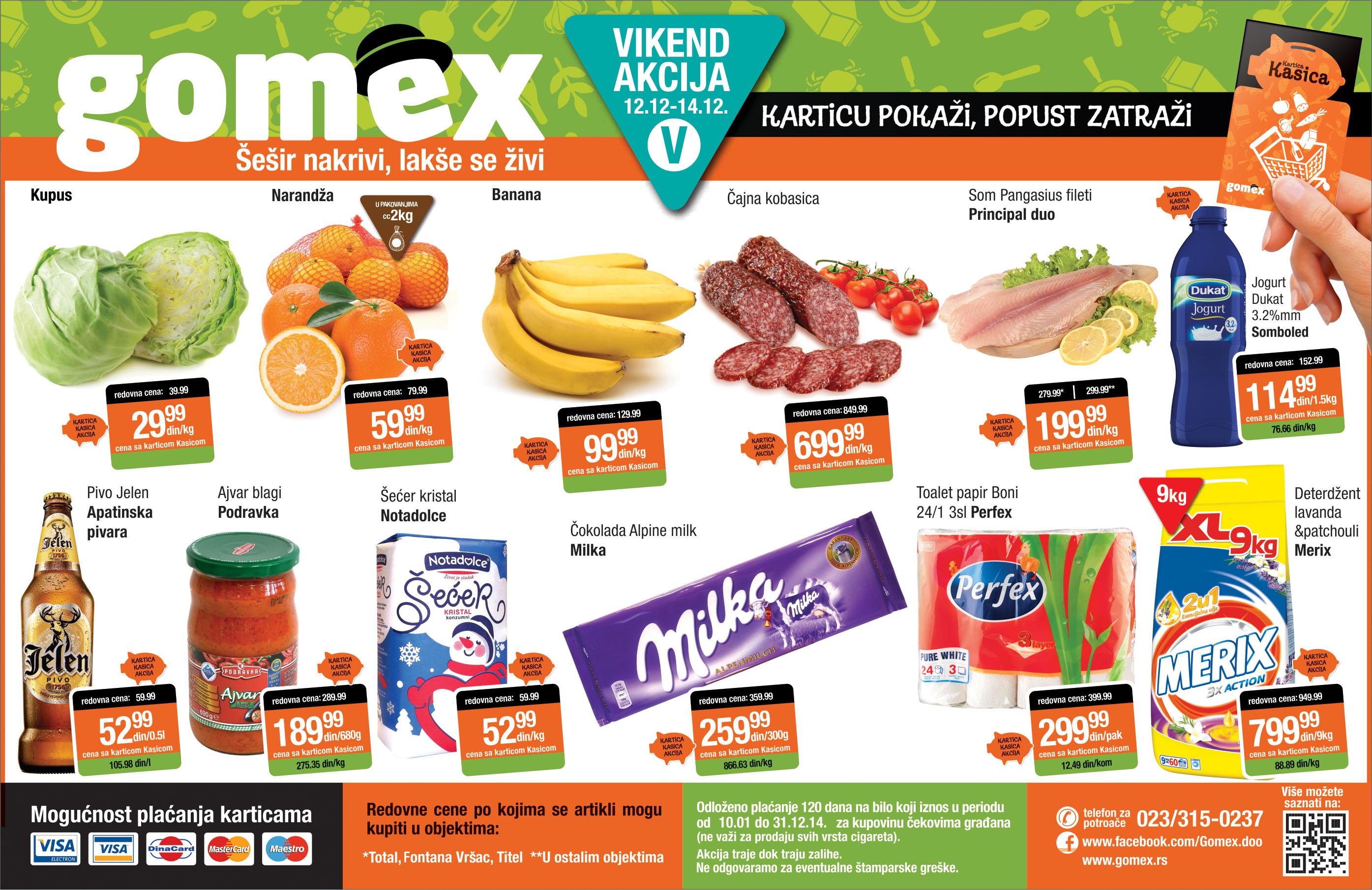 Gomex akcija vikend odlične kupovine