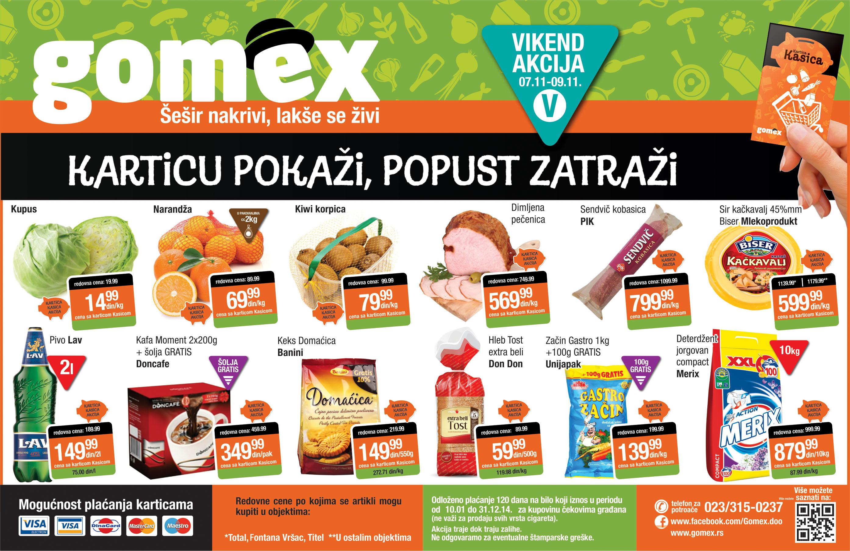 Gomex akcija vikend odlične ponude za vas