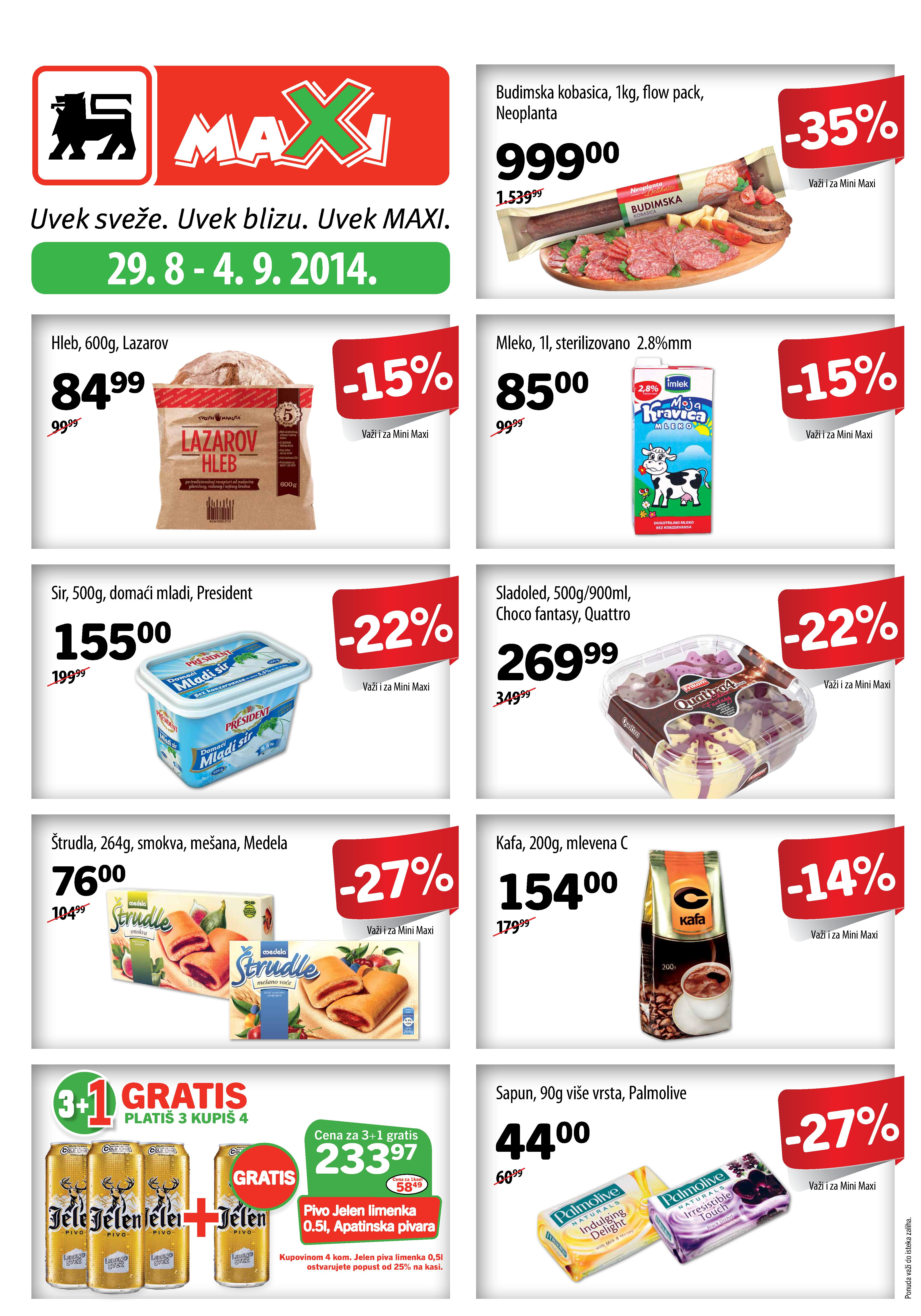 Maxi akcija nedelja odlične kupovine