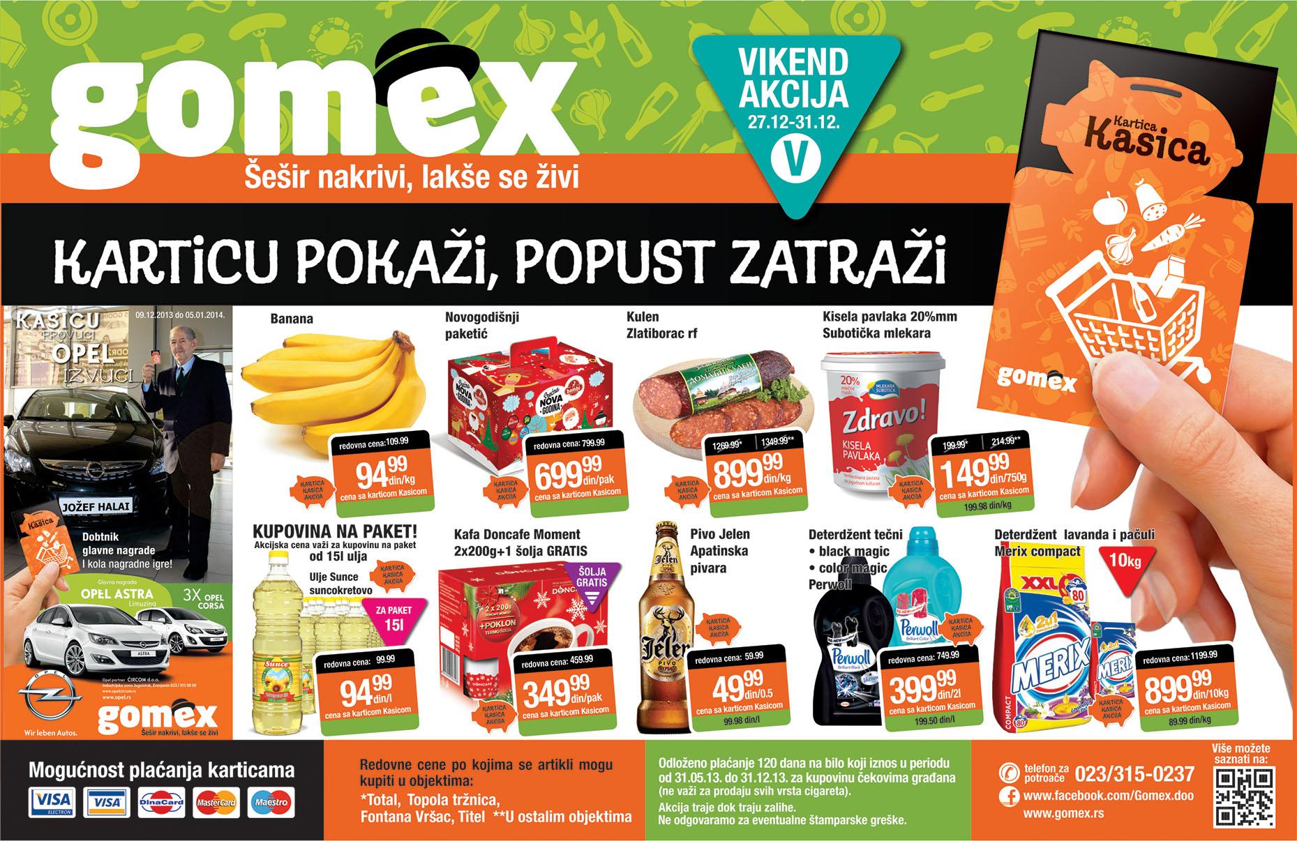 Gomex akcija super novogodišnja ponuda