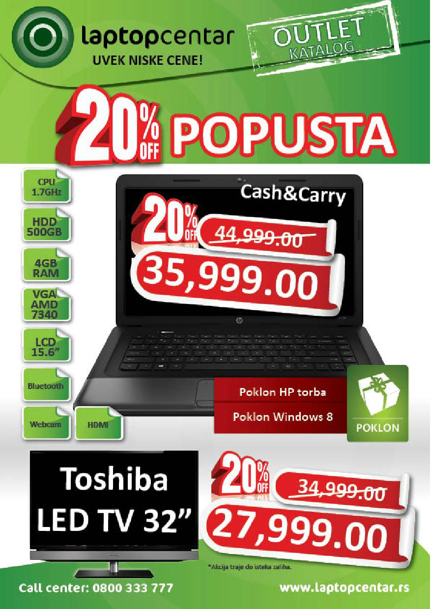 Laptop Centar akcija super cena