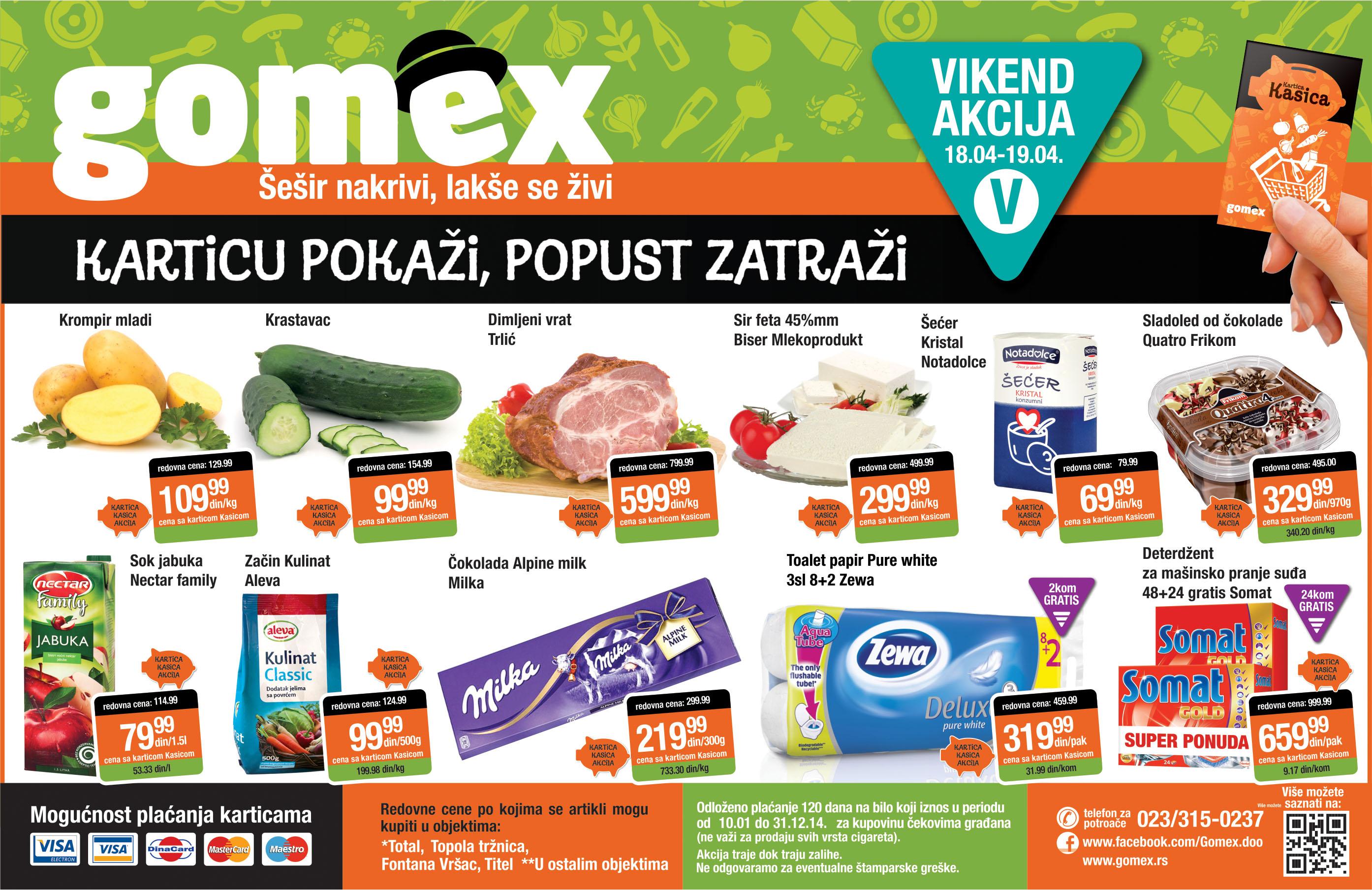 Gomex akcija vikend super ponude samo za vas