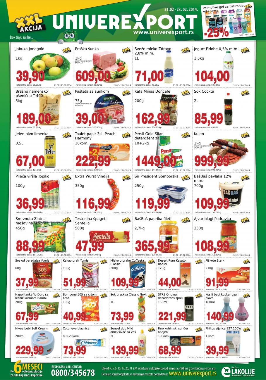 Univerexport katalog vikend dorih cena