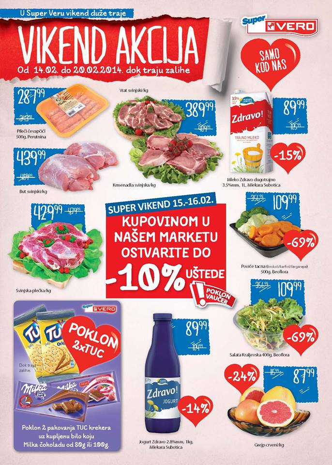 Super Vero katalog ponuda za Dan zaljubljenih