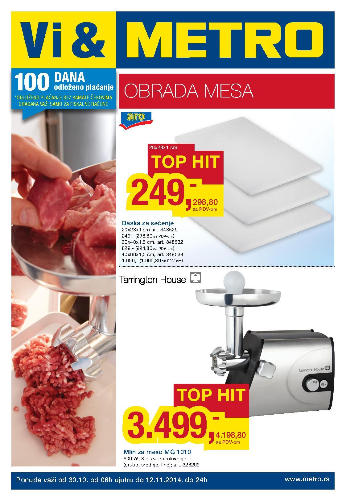 Metro akcija sve za obradu mesa