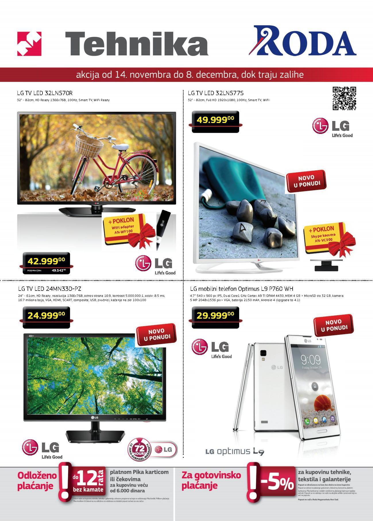 Roda akcija LG proizvodi po super ceni