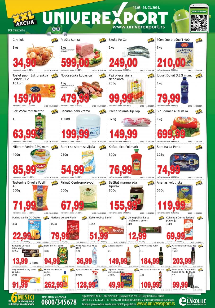 Univerexport katalog vikend povoljnih cena