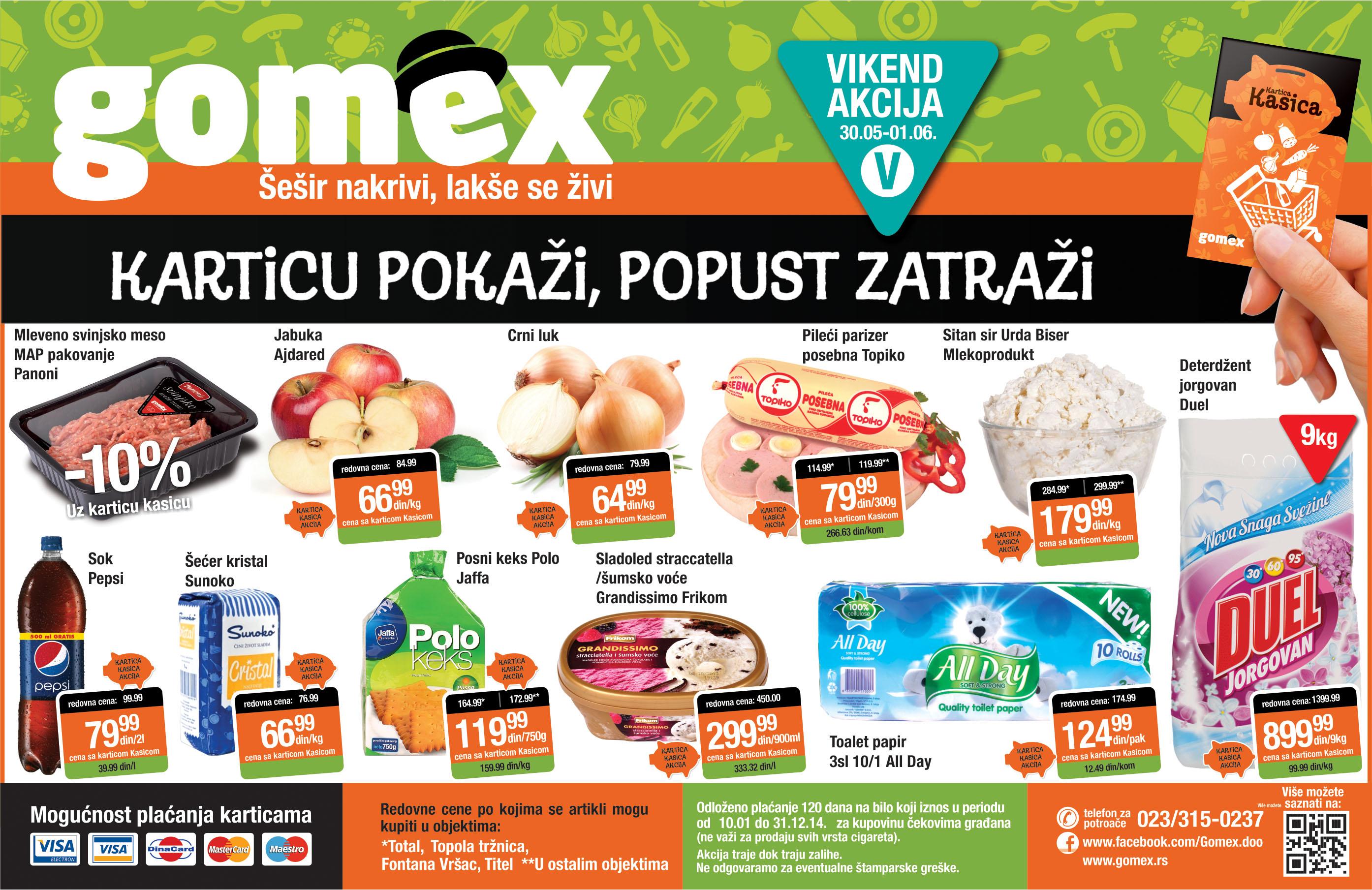 Gomex akcija vikend niskih cena je spremna