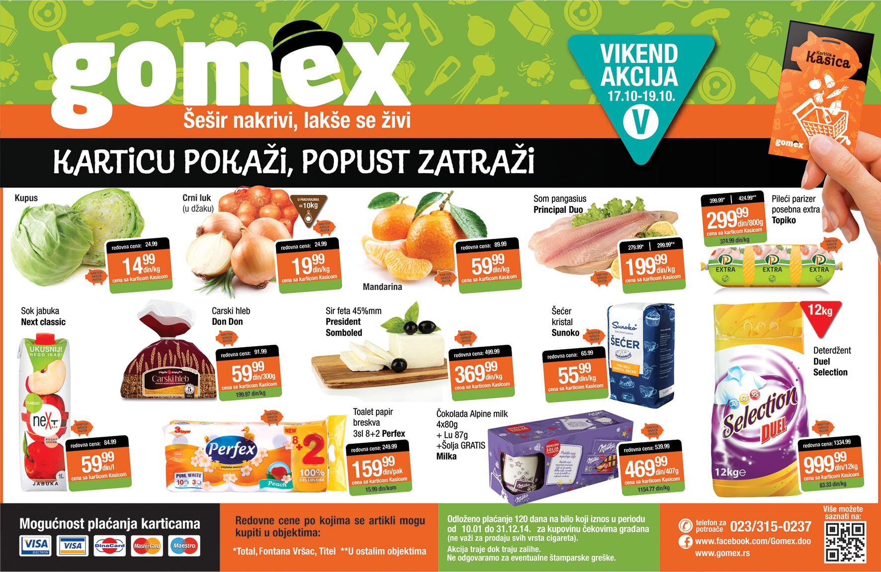 Gomex akcija vikend odlične ponude je spreman
